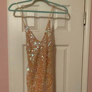 Lulus mini sequin dress size Xs